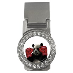 Boxing Panda  Money Clips (cz)  by Valentinaart