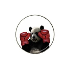 Boxing Panda  Hat Clip Ball Marker by Valentinaart