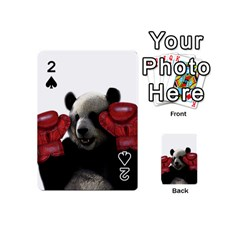 Boxing Panda  Playing Cards 54 (mini)  by Valentinaart