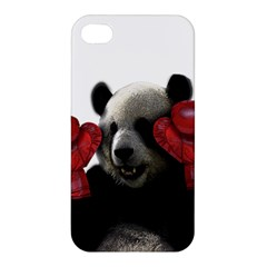 Boxing Panda  Apple Iphone 4/4s Premium Hardshell Case by Valentinaart