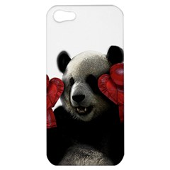 Boxing Panda  Apple Iphone 5 Hardshell Case by Valentinaart