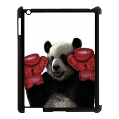 Boxing Panda  Apple Ipad 3/4 Case (black) by Valentinaart
