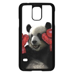 Boxing Panda  Samsung Galaxy S5 Case (black) by Valentinaart