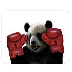 Boxing Panda  Double Sided Flano Blanket (medium)  by Valentinaart