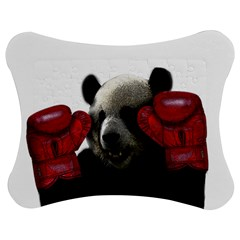 Boxing Panda  Jigsaw Puzzle Photo Stand (bow) by Valentinaart