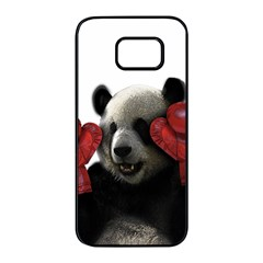Boxing Panda  Samsung Galaxy S7 Edge Black Seamless Case by Valentinaart