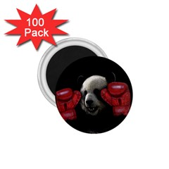 Boxing Panda  1 75  Magnets (100 Pack)  by Valentinaart