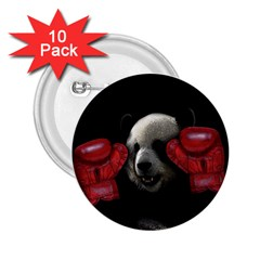 Boxing Panda  2 25  Buttons (10 Pack)  by Valentinaart