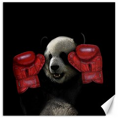 Boxing Panda  Canvas 16  X 16   by Valentinaart