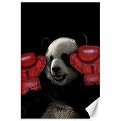 Boxing Panda  Canvas 20  X 30   by Valentinaart