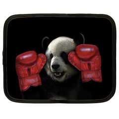 Boxing Panda  Netbook Case (xl)  by Valentinaart