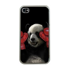 Boxing Panda  Apple Iphone 4 Case (clear) by Valentinaart