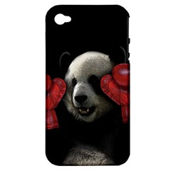 Boxing Panda  Apple Iphone 4/4s Hardshell Case (pc+silicone) by Valentinaart