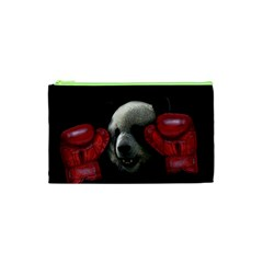 Boxing Panda  Cosmetic Bag (xs) by Valentinaart