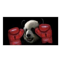 Boxing Panda  Satin Shawl by Valentinaart