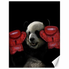 Boxing Panda  Canvas 12  X 16   by Valentinaart