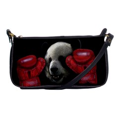 Boxing Panda  Shoulder Clutch Bags by Valentinaart