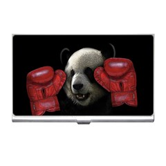 Boxing Panda  Business Card Holders by Valentinaart