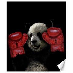 Boxing Panda  Canvas 8  X 10  by Valentinaart