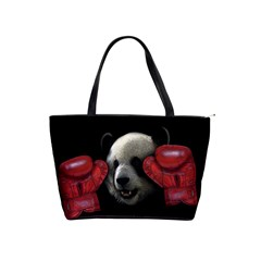 Boxing Panda  Shoulder Handbags by Valentinaart