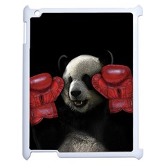Boxing Panda  Apple Ipad 2 Case (white) by Valentinaart