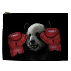 Boxing Panda  Cosmetic Bag (xxl)  by Valentinaart