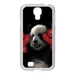 Boxing Panda  Samsung Galaxy S4 I9500/ I9505 Case (white) by Valentinaart