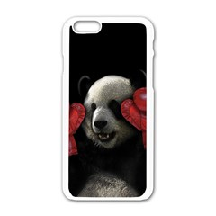 Boxing Panda  Apple Iphone 6/6s White Enamel Case by Valentinaart