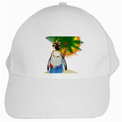 Tropical Penguin White Cap by Valentinaart