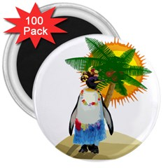 Tropical Penguin 3  Magnets (100 Pack) by Valentinaart