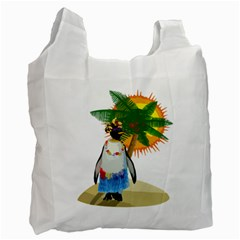 Tropical Penguin Recycle Bag (one Side) by Valentinaart