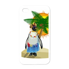 Tropical Penguin Apple Iphone 4 Case (white) by Valentinaart