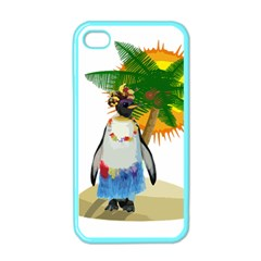 Tropical Penguin Apple Iphone 4 Case (color) by Valentinaart