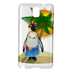 Tropical Penguin Samsung Galaxy Note 3 N9005 Hardshell Case by Valentinaart