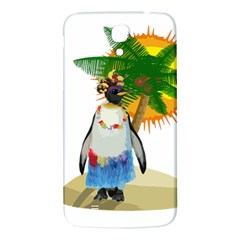 Tropical Penguin Samsung Galaxy Mega I9200 Hardshell Back Case by Valentinaart