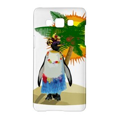Tropical Penguin Samsung Galaxy A5 Hardshell Case  by Valentinaart