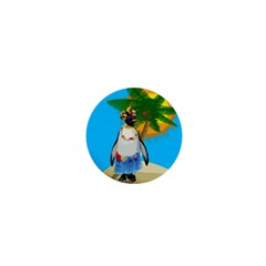 Tropical Penguin 1  Mini Buttons by Valentinaart