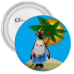 Tropical Penguin 3  Buttons by Valentinaart