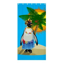 Tropical Penguin Shower Curtain 36  X 72  (stall)  by Valentinaart