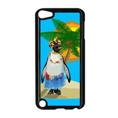 Tropical Penguin Apple Ipod Touch 5 Case (black) by Valentinaart