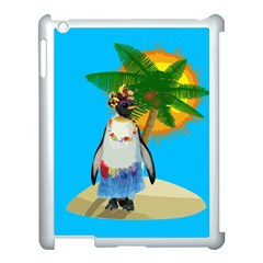 Tropical Penguin Apple Ipad 3/4 Case (white) by Valentinaart