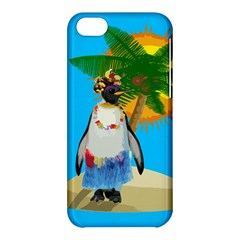 Tropical Penguin Apple Iphone 5c Hardshell Case by Valentinaart
