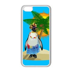 Tropical Penguin Apple Iphone 5c Seamless Case (white) by Valentinaart
