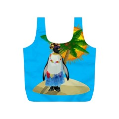 Tropical Penguin Full Print Recycle Bags (s)  by Valentinaart