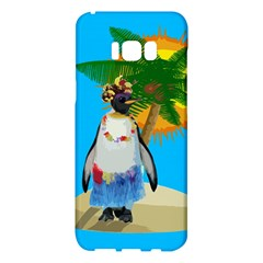 Tropical Penguin Samsung Galaxy S8 Plus Hardshell Case  by Valentinaart