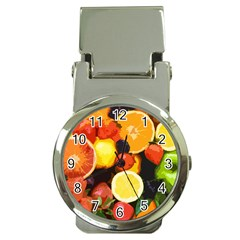 Fruits Pattern Money Clip Watches by Valentinaart