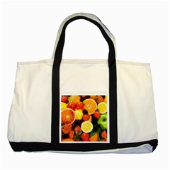 Fruits Pattern Two Tone Tote Bag by Valentinaart