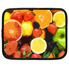 Fruits Pattern Netbook Case (xxl)  by Valentinaart