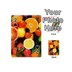 Fruits Pattern Playing Cards 54 (mini)  by Valentinaart