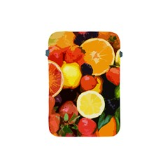Fruits Pattern Apple Ipad Mini Protective Soft Cases by Valentinaart